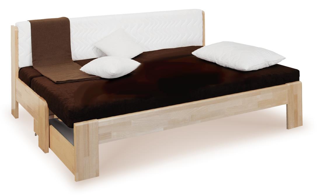 Rozkládací postel DUO, masiv buk